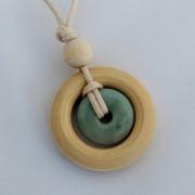 Life Circles Small Stone & Wood Nursing Necklace